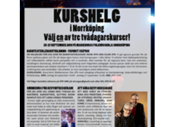 150715: UNIKT KURSTILLFÄLLE! Kurshelg på Marieborg (Norrköping) sista helgen i september!