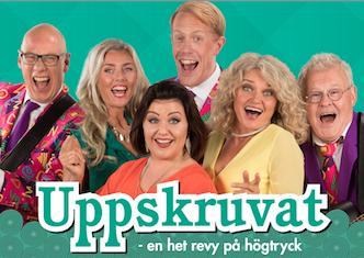 """Falkenbergsrevyn """"Uppskruvat – en het revy på högtryck"""", 5/1 – 6/4"""