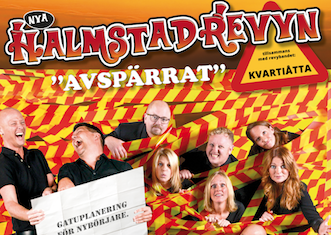 """Nya Halmstadrevyn """"AVSPÄRRAT"""" 28/1 – 4/3"""