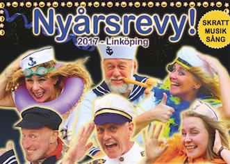 """Linköpingsrevyn """"Vind i seglen"""" 30 dec – 28 jan"""